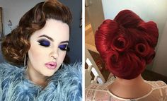 11. Elegant Updo This is a beautiful and elegant updo for any pinup babe and is actually super simple to do. It's a victory roll but with less height, more spiral, and a little less perfection. For those days you don't have time to do anything else, the rest of your hair can be tied …