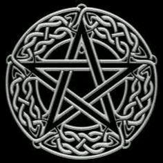 Black and white Celtic Pentacle