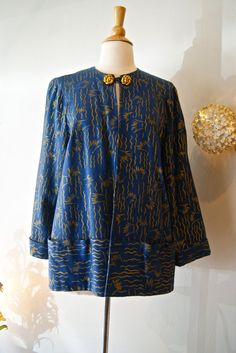 40s Jacket // Vintage 1940s Tula Abstract by xtabayvintage on Etsy, $198.00