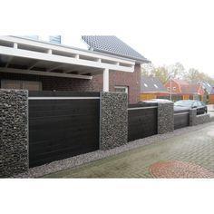 wpc sichtschutzzaun komplett set mit alupfosten bestehend aus 10 x elemente zaun. Black Bedroom Furniture Sets. Home Design Ideas