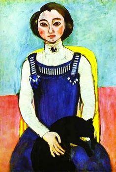 Henri Matisse (1869-1954). Girl with A Black Cat. 1910