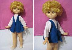 Кукла Оля, 60 см, оригинал, резинки, Ворошиловград, СССР, 70-е. Из Каталога.
