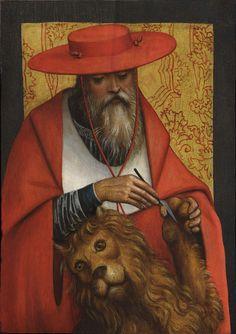 G. GIOVENONE (Vercelli, 1490 approx. – 1555), St Jerome, oil on panel selected by Robilant+Voena, Milano (I) London (UK) St. Moritz (CH) #flashbackfair #exhibitors #turin #flashback16 #thenewsyncretism #allartiscontemporary