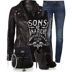"""Daily Denim September 9, 2013"" by arjanadesign on Polyvore  (SOA is back tomorrow night - YES!) :-)"
