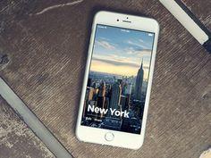 Favorite Travel App user list prototype by Igor Ivankovic