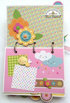 Artsy Albums Scrapbooking Kits and Custom Designed Scrapbook Albums by Traci Penrod: Doodlebug Hello Sunshine Mini Album