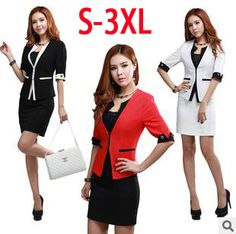 Plus Size New 2014 professional skirt elegant blazer office lady suits slim western dresses set small suit uniform dress skirt-in Skirt Suits from Women's Clothing & Accessories on Aliexpress.com | Alibaba Group