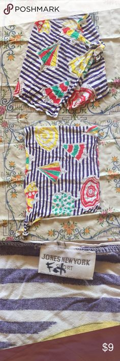 ☔️ 90s Beach Umbrella Waist Sarong *2 small worn spots (see photos)  * A name written in permanent marker on tag (see photo)   Super soft. Bright colors. No size label. Swim Sarongs