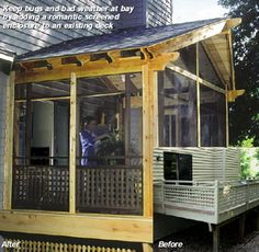 How to build a screened in porch over an existing deck - see, it's that easy.