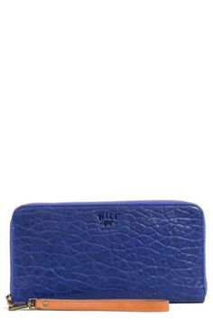 Will Leather Goods 'IMOGEN' WASHED ITALIAN LAMBSKIN LEATHER CHECKBOOK CLUTCH @Nordstrom