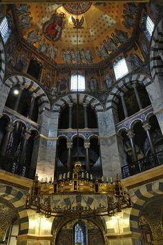 palatine chapel of charlemagne aachen germany note. Black Bedroom Furniture Sets. Home Design Ideas