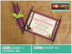 Invitación de Woodland - Cumpleaños niña… Podemos personalizarla con cualquier tema! • Woodland invitation - Girl birthday... We can personalize it with any party theme!