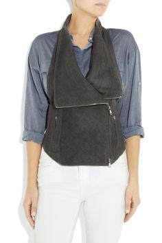 KAUFMANFRANCOMesh-back hemp and wool-blend vestfront