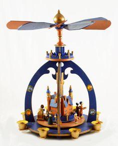 Vintage wooden German Christmas  Carrousel