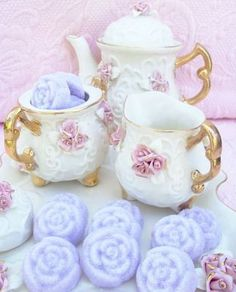 lavendar rose sugar cubes for coffee/tea at special occasions