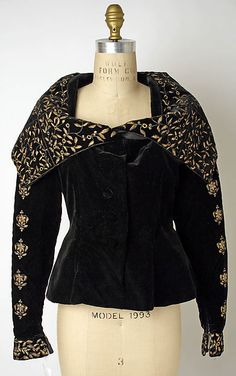 "* Evening jacket silk, metallic thread  1930s  Prince Tirtoff (Erté) New York  Textile by Gabrielle ""Coco"" Chanel"