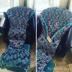 Crochet Mermaid Tail Afghan Blanket Pattern
