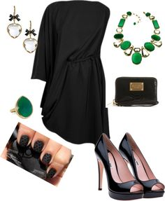 Saturday night green and black Diva Fashion, Cute Fashion, Fashion Outfits, Womens Fashion, Rush Outfits, Night Outfits, Types Of Fashion Styles, Dress To Impress, Fashion Forward