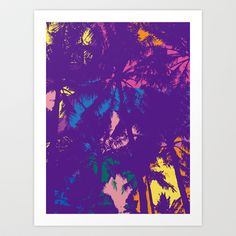 Palm tree_2 Art Print by PINT GRAPHICS - $17.00