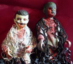 LIttle Zombie Bottle Boy Duo by MistressRae13 on Etsy, $22.00