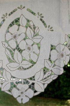 brise bise store lin rideaux rideau brod s voilages voilage brod brise bise pointe. Black Bedroom Furniture Sets. Home Design Ideas