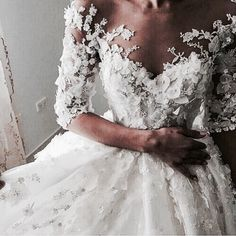 wedding, dress, and white kép