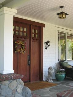 Exterior Doors | Craftsman Style Door With Dentil And Matching Sidelite |  Bayer Built Woodworks