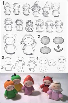 It's sort of a strange translation from French into English, but I love the inspiration for the simple shapes for figures out of polymer clay.