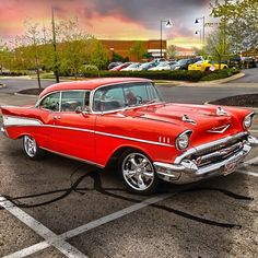 Chevy Old Classic Cars Muscle Cars Vintage, Vintage Cars, Antique Cars, 1957 Chevy Bel Air, Chevrolet Bel Air, American, Roadster, Old Classic Cars, Classic Auto