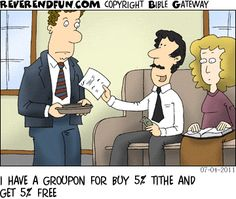 Tithing with Groupon!