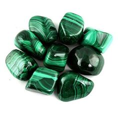 """Crystal Allies Materials: 1/2lb Bulk Tumbled Malachite Stones from South Africa - Large 1"""" Natural Polished Gemstone Supplies for Wicca, Reiki, and Energy Crystal Healing https://www.amazon.com/gp/product/B009JPLXCQ/ref=as_li_qf_sp_asin_il_tl?ie=UTF8&tag=trighippelitb-20&camp=1789&creative=9325&linkCode=as2&creativeASIN=B009JPLXCQ&linkId=100f946ae87d412ecd833f957bf1a8a1*Wholesale Lot*"""