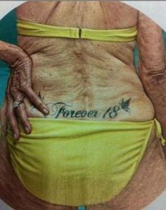 This is what your tatt will look like in 40 years: 14 old people with tattoos Just For Laughs, Belle Photo, Laugh Out Loud, The Funny, Funny Happy, Make Me Smile, Laughter, Funny Pictures, Funniest Pictures