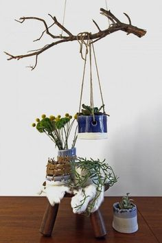 Rustic Planters from a British Potter Tracy wilkinson in LA Gardenista