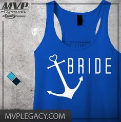 Bride Tank see matching Bride's MATE Design by MVPaLegacyCompany