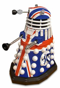 50th anniversary Dalek - The only way this image could get anymore British is if you stuck it in Victory of the Daleks and made it offer Churchill some tea. WANT.