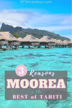 While Tahiti and Bora Bora occupy most of the glossy honeymoon travel ads, lesser-known Moorea is the real gem of French Polynesia. Moorea is smaller, less-touristy, and easier to reach than Bora Bora. Not to mention it's (slightly) more affordable than its superstar neighbors. Book an iconic overwater bungalow for the ultimate honeymoon experience or romantic getaway. Discover why Moorea is truly one of the world's most beautiful places. #moorea #tahiti #BucketList #travel #photography Best Romantic Getaways, Romantic Honeymoon, Romantic Travel, Top Honeymoon Destinations, Romantic Destinations, Travel Destinations, World Most Beautiful Place, World's Most Beautiful, Beautiful Places