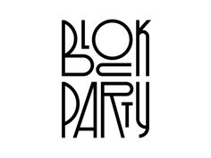 Block Party designed by Rafael Serra. Connect with them on Dribbble; Typography Logo, Graphic Design Typography, Logo Branding, Branding Design, Logo Design, Summer Typography, Brochure Design, Party Font, Monospace