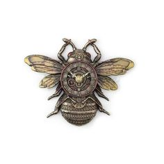 Steampunk Clock Bee Unique Art Wall Clock Bronze Finish Fantasy Sculpture / Kg / LbsHeight 23 cm / inchesMaterial Real Bronze Metal/Cold Cast ResinThis collection of statues is breathtaking . Steampunk Clock, Gear Art, Bronze Sculpture, Bronze Finish, Things To Buy, Unique Art, Sculpting, Quartz, Fantasy