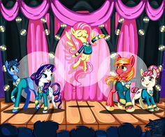 just fluttershy coming out of her shell sing on pony tones!