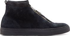 Diemme - Black Suede Fontesi High-Top Sneakers