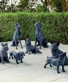Crafted from durable aluminum, our Dog Sculptures are a great addition to any dog lover's indoor or outdoor decor-either solo or paired with one of our other adorable canine statues. Boxer, Dog Sculpture, Garden Sculpture, Bird Statues, Dachshund, Dog Lovers, Cute Animals, Wild Animals, Dog Cat