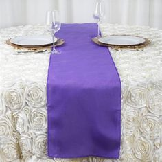 Purple Polyester Table Runner   Plan as many events as you want and invite as many guest as you desire without even worrying about the expenses and your budget. With our sturdy and economical polyester table runners, you can now transform any dining experience into a magnificent feast with an upscale feel and an elite look without breaking the banks. Get inspired by this premium quality polyester table runner that opens the gates of creativity and ingenuity. With such a high standard…