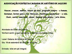Associação Espírita Cabana de Antônio de Aquino Convida para apresentação do seu Coral - Maracanã - RJ - http://www.agendaespiritabrasil.com.br/2015/09/15/associacao-espirita-cabana-de-antonio-de-aquino-convida-para-apresentacao-do-seu-coral-maracana-rj/