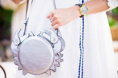 Vestido blanco con bordados Moda - Crímenes de la Moda