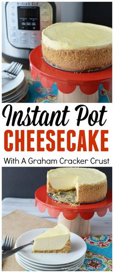 Cheesecake, Instant Pot Cheesecake, Classic Cheese Recipe, Instant Pot Cheesecake Recipe If you're craving that graham cracker crust and creamy texture, this Instant Pot Classic Cheesecake recipe will hit the spot! Instant Pot Cheesecake Recipe, Best Instant Pot Recipe, Cheesecake Recipes, Dessert Recipes, Healthy Cheesecake, Raspberry Cheesecake, Oreo Cheesecake, Graham Crackers, Graham Cracker Crust