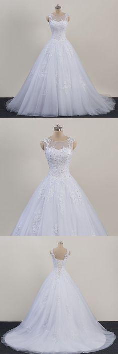 Wedding Dresses: New Lace White/Ivory Wedding Dress Bridal Gown Custom Size 4 6 8 10 12 14 16 18+ -> BUY IT NOW ONLY: $145.0 on eBay!