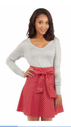 Red Musee Marissa Skirt