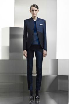 neil barrett fall 2013....need this suit! Love the blue & black colorblock!