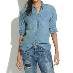 Madewell - Indigo Linen Ex-Boyfriend Shirt