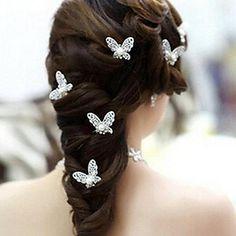 EUR € 11.99 - 8 centímetros de moda liga de ouro varas das mulheres de cabelo (de ouro e tira) (5pcs), Frete Grátis em Todos os Gadgets!